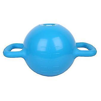 Blauwe draagbare kettlebell yoga fitnessapparatuur, kan gewicht te verhogen door het injecteren van water az18631