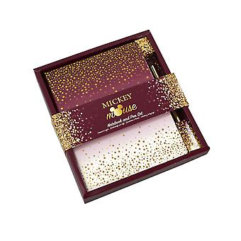 Mickey Mouse Notebook and Pen Mickey Berry Glitter new Official
