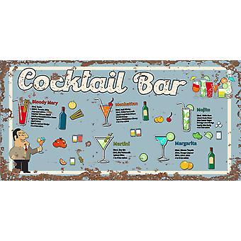 Vintage Metal Sign Cocktail Bar