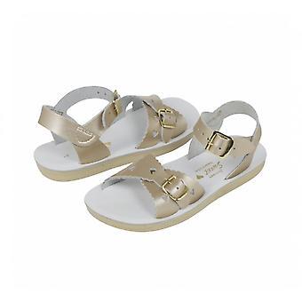SUN-SAN / SALT-WATER Sweetheart Gouden Sandaal
