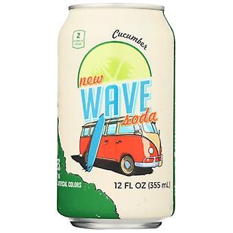 Wave Soda Soda Cucumber, Case of 12 X 12 Oz