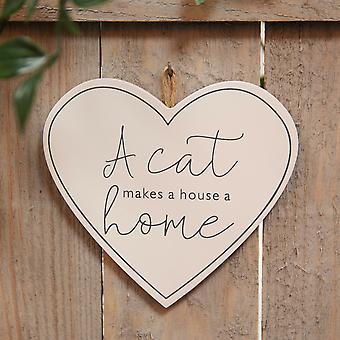 Best of Breed Wooden Plaque - Cat Home