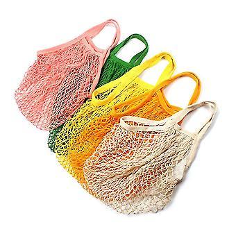 Alle katoenen net zak smalle band lengte handdragende breien net tas shopping bag shopping bag