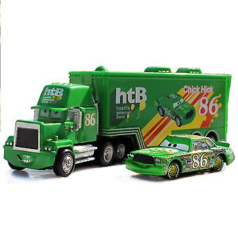 Cars Cargo Racing Truck Chick Hick 86 Htb Racing Car Diecast Alloy Cars Model Toy Children's Gift