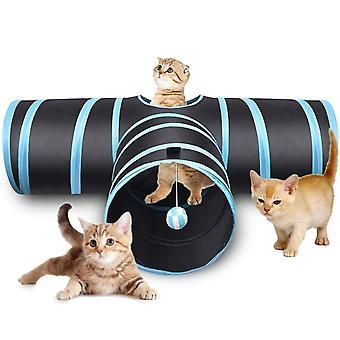 Indoor 3-Wege 3 Löcher Faltbare Katze Tunnel Tube Kitty Tunnel Gelangweilte Katze Haustier Spielzeug Peek Loch Spielzeug Spielzeug Katze Welpen Kitty Kätzchen Kaninchen