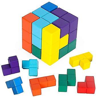 الطفولة المبكرة التعليم 3D لعبة خشبية لغز لعبة لغز لعبة الأطفال لعبة لغز