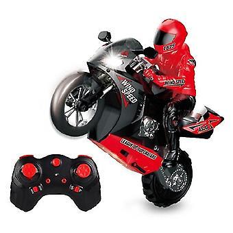 Kaukosäädin RC Moottoripyörä Temppu Auto Ajoneuvo mallit RTR Suuri nopeus 20km/h 210min Käyttöaika (punainen)