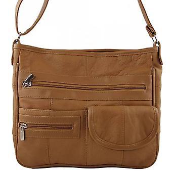Ladies Leather Cross Body Bag con organizador
