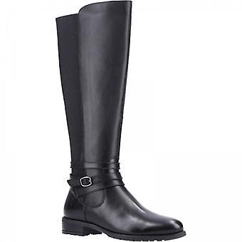 Hush Puppies Vanessa Ladies Leather Tall Boots Black