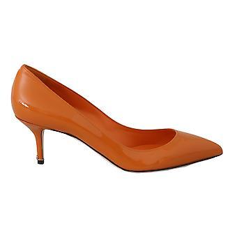 Dolce & Gabbana oranssi kiiltonahka korkokengät pumput