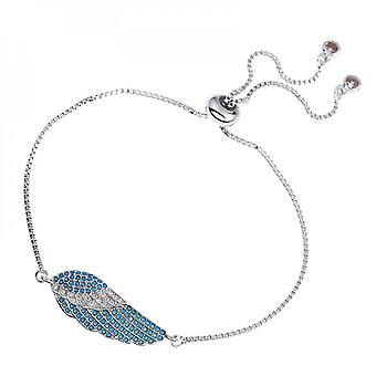 Simple Style Wing White Plated Brass Zircon Adjustment Length Fashion Chain Bracelet