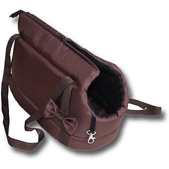 Hundetragetasche - kleine Hunde - Hundetransporttasche - braun - 36x19x23 cm - stylisch - Umhängetasche