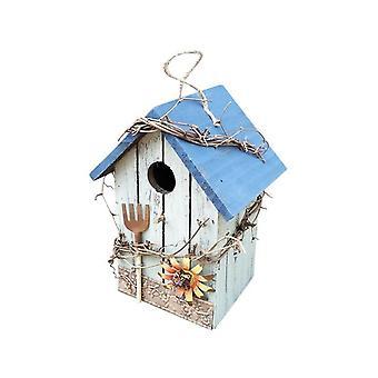 Dřevěný ptačí dům hnízdící box ptačí klec závěsné ptačí hnízda domácí zahradní dekorace Vogelhuisjes