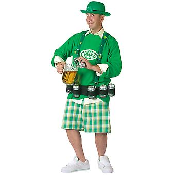 Cheers N Beers St Patricks Leprechaun Men Costume One Size