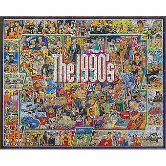 """Jigsaw puzzles white mountain puzzles jigsaw puzzle 1000 pieces 24""""x30""""-the nineties"""