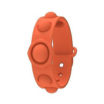 Push bubble pop it sensoriale fidget toy, braccialetto anti stress per 3+ bambini e adulti (arancione)