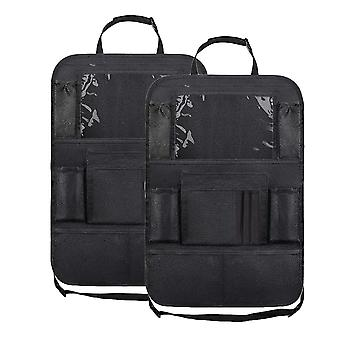 Auton takapenkin järjestäjä kosketusnäytön tablet-pidikkeellä + 9 säilytystaskua Potkumatot Turvaistuimen selkänojan suojat lapsille Taaperoille