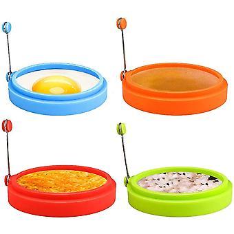 Anillos de huevo de silicona, anillos de cocina de huevo de grado alimenticio de 4 pulgadas, antiadherentes