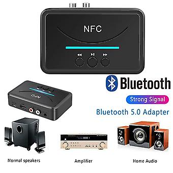 Bluetooth 5.0 Receiver Adapter Nfc 3.5mm Rca Audio Aux Output Wireless Bluetooth Dongle Stereo Receptor
