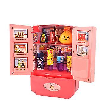9шт новый симулятор холодильника toy детский симулятор двойная дверь мини-холодильник набор