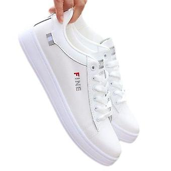 Miesten litteät kengät hengittävät rento urheilu valkoiset kengät