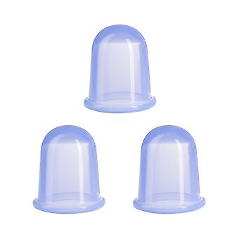 Silicone Cupping, 3 Pcs Traditional Massage Vacuum Suction Cups(blue)