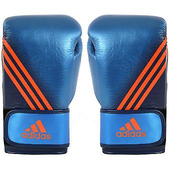 Adidas velocidade 300 gancho e laço luvas de boxe - Marinha azul/colegiado metálica