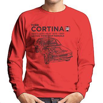 Haynes Owners Workshop Manual Ford Cortina Black Men's Sweatshirt