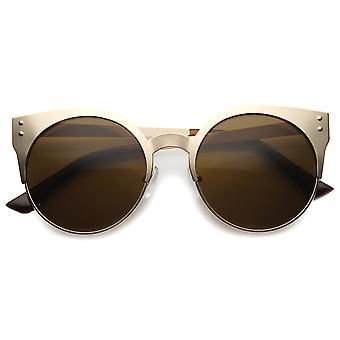 Womens Metall-Cat-Eye-Sonnenbrille mit UV400 Schutz zusammengesetztes Objektiv