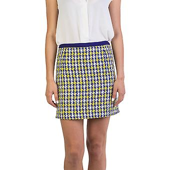 Miu Miu Women's Cotton Blend Tweed Skirt Blue