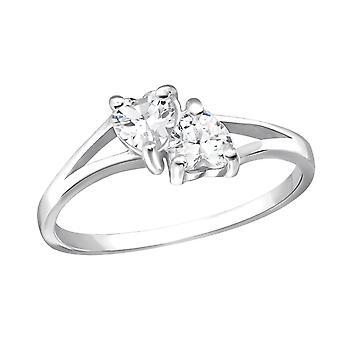 Doppio cuore - argento 925 gioiello anelli - W23482X