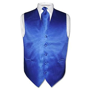 Men's Dress Vest NeckTie Woven Neck Tie Horizontal Stripe Design Set