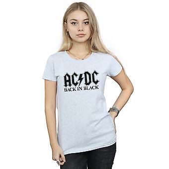 AC/DC kvinder tilbage i sort Logo T-Shirt
