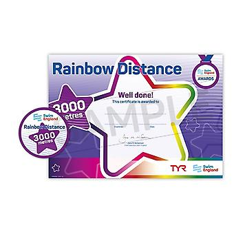 ASA Swim England Rainbow Distance Swimming Award - 3000M