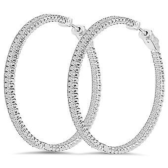 1 3/4 CT Diamant innen außen Reifen hochwertige Vault Lock 2
