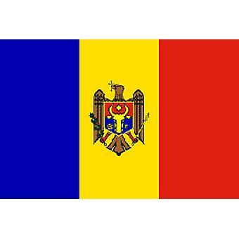 Moldavië vlag 5 ft x 3 ft met oogjes voor verkeerd-om