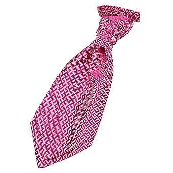 Matrimonio pre-legato chiave greco rosa fucsia Cravat per ragazzi