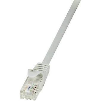 LogiLink RJ45 sieci kabel CAT 6 U/UTP 10 m szary incl. samoblokujący