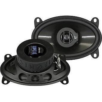Hifonics Titan 4 x 6 2-weg coaxiale flush mount speaker Kit 140 W inhoud: 1 paar