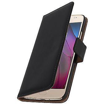 Flip wallet case, leather cover for Motorola Moto G5S, standcase - Black