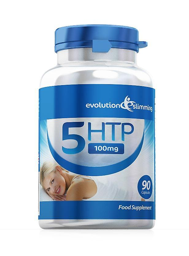 5-HTP 100mg for Sleep, Mood, Anxiety and Appetite - 90 Capsules - Stress Relief, Sleep Aid and Appetite Control - Evolution Slimming