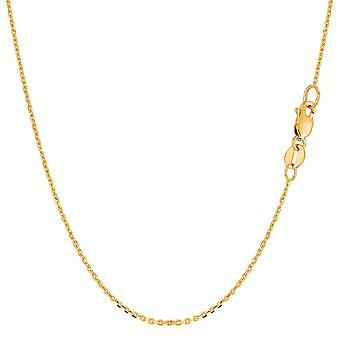 14k Yellow Gold Cable Link Chain Necklace, 1.1mm