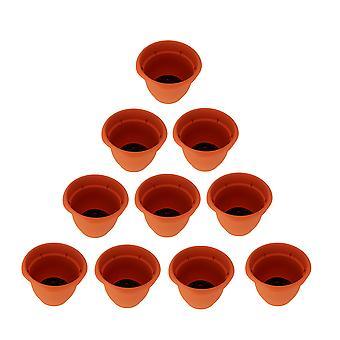 Zestaw 10 Ariana płomień pomarańczowy nawadnianie samodzielne sadzarka garnki 8-calowy