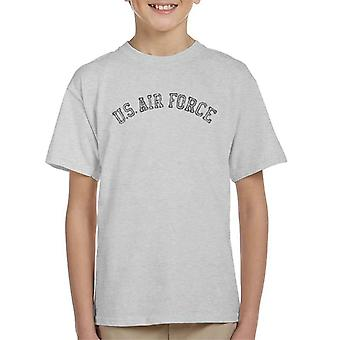 US Airforce Training Black Text Distressed Kid's T-Shirt