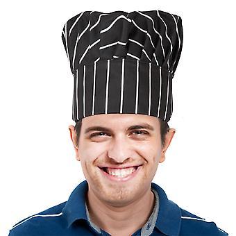 TRIXES Professional kjøkkensjefen Hat svart & hvit Stripe