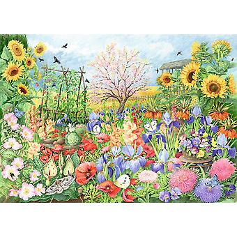 Falcon Deluxe The Sunflower Garden Jigsaw Puzzle (1000 Pieces)