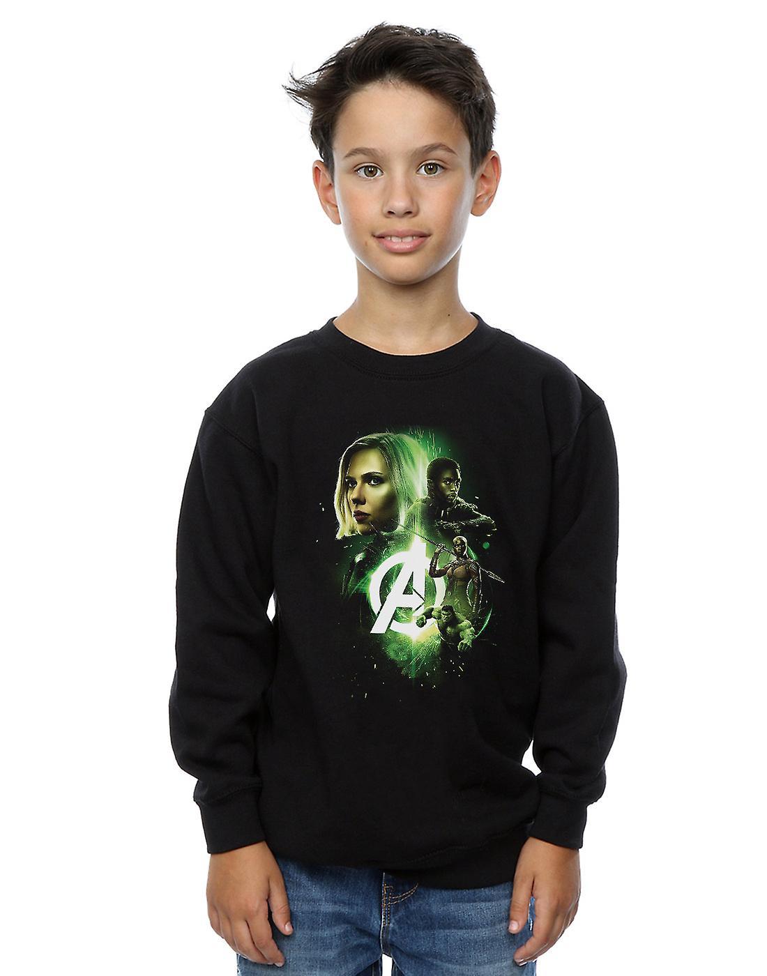 Marvel Boys Avengers Infinity War Widow Panther Team Up Sweatshirt