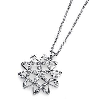 Oliver Weber Chain Mandala Small Rhodium Crystal