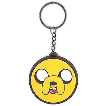 Adventure Time Keychain Keyring Jake new Official Yellow Rubber