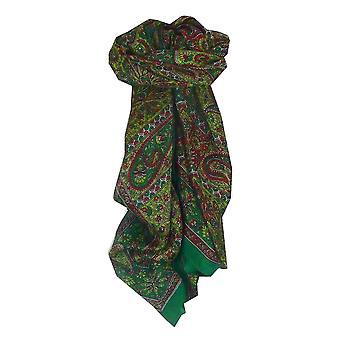 Maulbeere traditionelle quadratischen Seidentuch Solan Grün von Pashmina & Seide